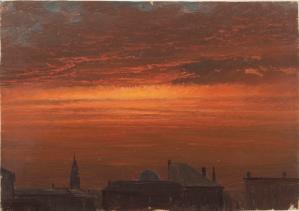 Frederic Church, Hudson, New York at Sunset, 1867