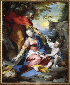 F. Barocci, Rest on the Return from Egypt